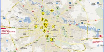 אדיר בוקרשט מפה - מפות בוקרשט (רומניה) EP-72