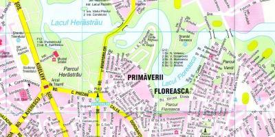 טוב מאוד בוקרשט מפה - מפות בוקרשט (רומניה) ZQ-17
