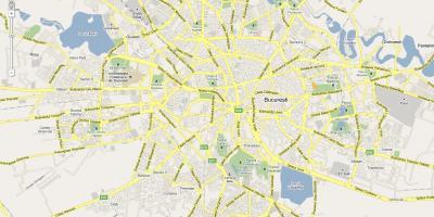 מגניב ביותר בוקרשט מפה - מפות בוקרשט (רומניה) EF-17